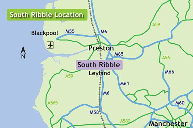 South-Ribble-location-map
